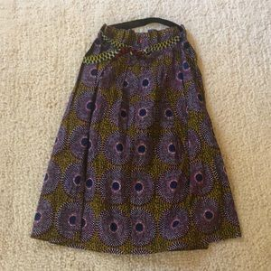 Much sought after Anthropologie skirt peacock